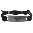 Texas Longhorns Cord Bracelet - Cord bracelets have been a popular fashion accessory for many years. They offer a classic, subtle way to for a fan to get into the game. Our officially licensed cord bracelets feature a deeply carved Texas Longhorns logo on a high quality adjustable cord. Thank you for shopping with CrazedOutSports.com