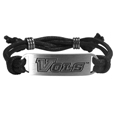 Tennessee Volunteers Cord Bracelet - Cord bracelets have been a popular fashion accessory for many years. They offer a classic, subtle way to for a fan to get into the game. Our officially licensed cord bracelets feature a deeply carved Tennessee Volunteers logo on a high quality adjustable cord. Thank you for shopping with CrazedOutSports.com