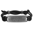 Kentucky Wildcats Cord Bracelet - Cord bracelets have been a popular fashion accessory for many years. They offer a classic, subtle way to for a fan to get into the game. Our officially licensed cord bracelets feature a deeply carved Kentucky Wildcats logo on a high quality adjustable cord. Thank you for shopping with CrazedOutSports.com