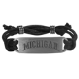 Michigan Wolverines Cord Bracelet - Cord bracelets have been a popular fashion accessory for many years. Michigan Wolverines Cord Bracelets offer a classic, subtle way to for a fan to get into the game. This officially licensed Michigan Wolverines Cord Bracelet feature a deeply carved Michigan Wolverines logo on a high quality adjustable cord. Thank you for shopping with CrazedOutSports.com