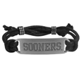 Oklahoma Sooners Cord Bracelet - Cord bracelets have been a popular fashion accessory for many years. They offer a classic, subtle way to for a fan to get into the game. Our officially licensed cord bracelets feature a deeply carved Oklahoma Sooners logo on a high quality adjustable cord. Thank you for shopping with CrazedOutSports.com