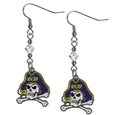 East Carolina Pirates Crystal Dangle Earrings