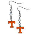 Tennessee Volunteers Crystal Dangle Earrings - Our collegiate crystal dangle earrings are the perfect accessory for your game day outfit! The earrings are approximately 1.5 inches long and feature an iridescent crystal bead and nickel free chrome Tennessee Volunteers charm on nickel free, hypoallergenic fishhook posts. Thank you for shopping with CrazedOutSports.com