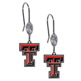 Texas Tech Raiders Crystal Dangle Earrings - Our crystal dangle earrings are the perfect accessory for your game day outfit! The earrings are approximately 1.5 inches long and feature an iridescent crystal bead and nickel free chrome Texas Tech Raiders charm on nickel free, hypoallergenic fishhook posts. Thank you for shopping with CrazedOutSports.com