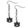 Auburn Tigers Crystal Dangle Earrings - Our collegieate crystal dangle earrings are the perfect accessory for your game day outfit! The earrings are approximately 1.5 inches long and feature an iridescent crystal bead and nickel free chrome Auburn Tigers charm on nickel free, hypoallergenic fishhook posts. Thank you for shopping with CrazedOutSports.com