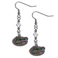 Florida Gators Crystal Dangle Earrings - Our collegiate crystal dangle earrings are the perfect accessory for your game day outfit! The earrings are approximately 1.5 inches long and feature an iridescent crystal bead and nickel free chrome Florida Gators charm on nickel free, hypoallergenic fishhook posts. Thank you for shopping with CrazedOutSports.com