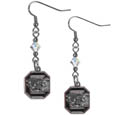 S. Carolina Gamecocks Crystal Dangle Earrings - Our collegiate crystal dangle earrings are the perfect accessory for your game day outfit! The earrings are approximately 1.5 inches long and feature an iridescent crystal bead and nickel free chrome S. Carolina Gamecocks charm on nickel free, hypoallergenic fishhook posts. Thank you for shopping with CrazedOutSports.com