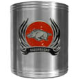 Arkansas Razorbacks Steel Can Cooler Flame Emblem