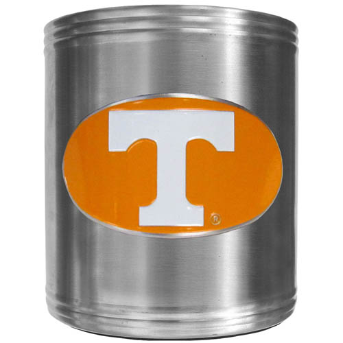 Tennessee Can Cooler - This insulated steel can cooler is a perfect addition to any tailgating or outdoor event. The cooler features a cast & enameled Tennessee Volunteers emblem. Thank you for shopping with CrazedOutSports.com