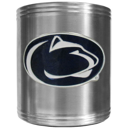 PENN St. Can Cooler - This insulated steel can cooler is a perfect addition to any tailgating or outdoor event. The cooler features a cast & enameled Penn St. Nittany Lions emblem. Thank you for shopping with CrazedOutSports.com