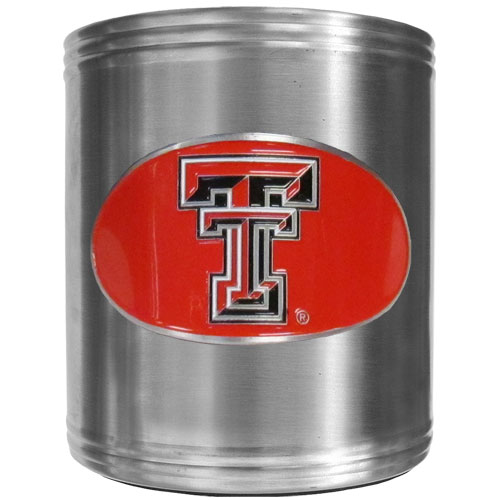 Texas Tech Can Cooler - This insulated steel can cooler is a perfect addition to any tailgating or outdoor event. The cooler features a cast & enameled Texas Tech Raiders emblem. Thank you for shopping with CrazedOutSports.com