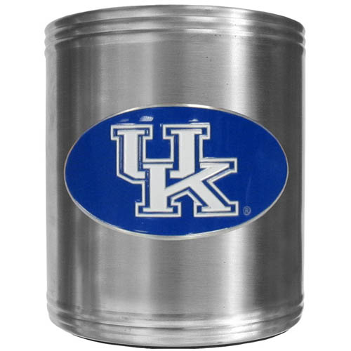 Kentucky Can Cooler - This insulated steel can cooler is a perfect addition to any tailgating or outdoor event. The cooler features a cast & enameled Kentucky Wildcats emblem. Thank you for shopping with CrazedOutSports.com
