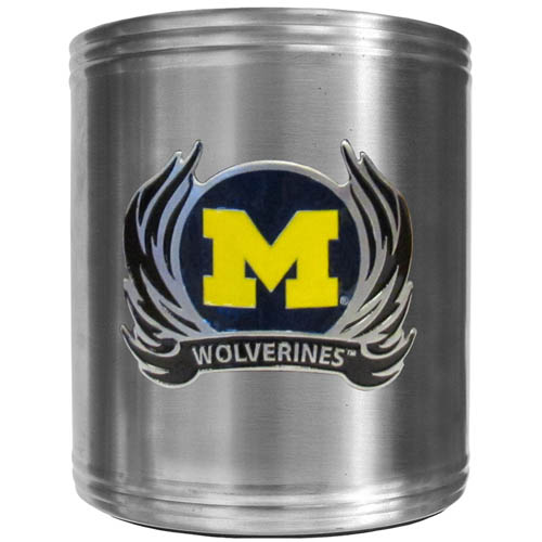Michigan Wolverines Flame Can Cooler - This insulated steel Michigan Wolverines Flame Can Cooler is a perfect addition to any tailgating or outdoor event. The Michigan Wolverines Flame Can Cooler features a cast & enameled Michigan Wolverines emblem. Thank you for shopping with CrazedOutSports.com