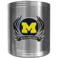 Michigan Wolverines Steel Can Cooler Flame Emblem