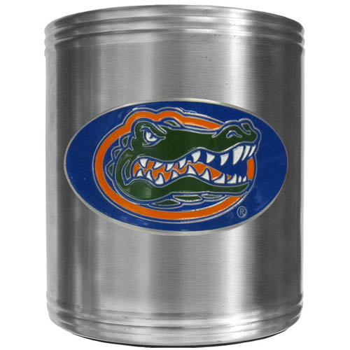 Florida Gators Can Cooler - This insulated steel can cooler is a perfect addition to any tailgating or outdoor event. The cooler features a cast & enameled Florida Gators emblem. Thank you for shopping with CrazedOutSports.com