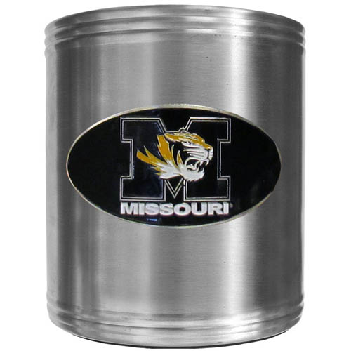 Missouri Can Cooler - This insulated steel can cooler is a perfect addition to any tailgating or outdoor event. The cooler features a cast & enameled Missouri Tigers emblem. Thank you for shopping with CrazedOutSports.com
