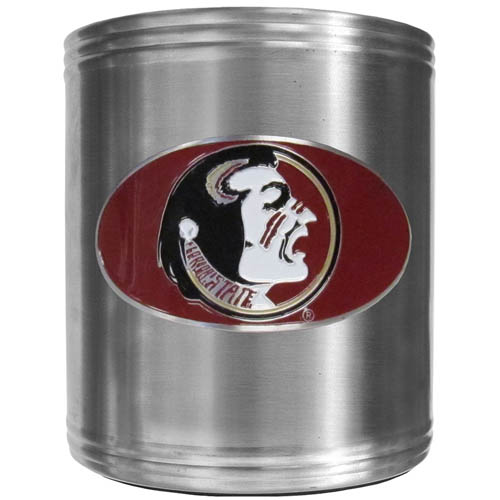 Florida State Seminoles Can Cooler - This Florida State Seminoles insulated steel can cooler is a perfect addition to any tailgating or outdoor event. The cooler features a cast & enameled Florida St. Seminoles emblem. Thank you for shopping with CrazedOutSports.com