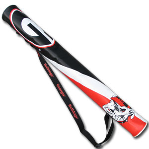 Collegiate Can Shaft - Georgia Bulldogs - This collegiate Georgia Bulldogs can shaft keeps up to 6 cans cold and is as fashionable as it is durable. The heavy duty foam insulated vinyl shaft features a shoulder strap and a zipper that extends the entire length with your favorite school logo. Check out our entire Thank you for shopping with CrazedOutSports.com