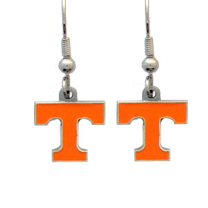 College Dangle Earrings - Tennessee Volunteers - Enameled zinc college logo earrings. A great way to show off your team spirit! Check out our entire licensed sports  jewelry line! Thank you for shopping with CrazedOutSports.com