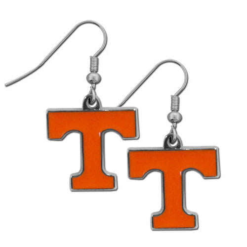 Tennessee Chrome Dangle Earrings - Our officially licensed college dangle earrings are fully cast with exceptional detail and a hand enameled finish. The earrings have a high polish nickel free chrome finish and hypoallergenic fishhook posts. Thank you for shopping with CrazedOutSports.com