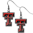 Texas Tech Raiders Chrome Dangle Earrings - Our officially licensed chrome dangle earrings have fully cast Texas Tech Raiders charms with exceptional detail and a hand enameled finish. The earrings have a high polish nickel free chrome finish and hypoallergenic fishhook posts. Thank you for shopping with CrazedOutSports.com