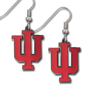College Dangle Earrings - Indiana Hoosiers - Enameled zinc Indiana Hoosiers college logo dangle earrings. A great way to show off your team spirit! Check out our entire licensed sports  jewelry line! Thank you for shopping with CrazedOutSports.com