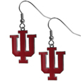 Indiana Hoosiers Chrome Dangle Earrings - Our officially licensed chrome dangle earrings have fully cast Indiana Hoosiers charms with exceptional detail and a hand enameled finish. The earrings have a high polish nickel free chrome finish and hypoallergenic fishhook posts. Thank you for shopping with CrazedOutSports.com