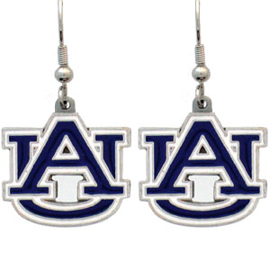 College Dangle Earrings - Auburn Tigers - Enameled zinc college logo earrings. A great way to show off your Auburn Tigers team spirit! Check out our entire licensed sports  jewelry line! Thank you for shopping with CrazedOutSports.com