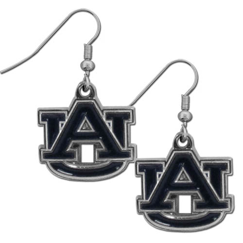 Auburn Tigers Chrome Dangle Earrings - Our officially licensed Auburn Tigers college dangle earrings are fully cast with exceptional detail and a hand enameled finish. The earrings have a high polish nickel free chrome finish and hypoallergenic fishhook posts. Thank you for shopping with CrazedOutSports.com
