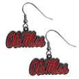 Mississippi Rebels Chrome Dangle Earrings - Our officially licensed chrome dangle earrings have fully cast Mississippi Rebels charms with exceptional detail and a hand enameled finish. The earrings have a high polish nickel free chrome finish and hypoallergenic fishhook posts. Thank you for shopping with CrazedOutSports.com