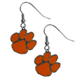 Clemson Tigers Chrome Dangle Earrings - Our officially licensed chrome dangle earrings have fully cast Clemson Tigers charms with exceptional detail and a hand enameled finish. The earrings have a high polish nickel free chrome finish and hypoallergenic fishhook posts. Thank you for shopping with CrazedOutSports.com