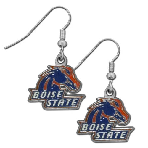 College Dangle Earrings - Boise St. Broncos - Enameled zinc college logo earrings. A great way to show off your Boise State Broncos team spirit! Check out our entire licensed sports  jewelry line! Thank you for shopping with CrazedOutSports.com