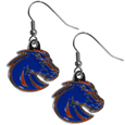 Boise St. Broncos Chrome Dangle Earrings - Our officially licensed chrome dangle earrings have fully cast Boise St. Broncos charms with exceptional detail and a hand enameled finish. The earrings have a high polish nickel free chrome finish and hypoallergenic fishhook posts. Thank you for shopping with CrazedOutSports.com