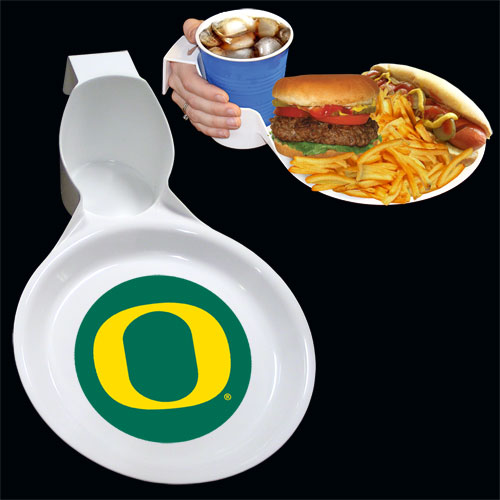 Oregon Ultimate Party Plate - The drink & plate is perfect for outdoor and indoor events this unique plate allows you to hold your drink and food comfortable in one hand. The plate features an attractive team logo. You can use the sturdy plate on its own or you can use it as a strong base for paper plates. Sold in 12 sets of 2 and shipped in a display box. Thank you for shopping with CrazedOutSports.com