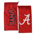 Alabama Crimson Tide Microfiber Glasses Bag - Our Alabama Crimson Tide officially licensed collegiate soft microfiber glasses bag  with the Alabama Crimson Tide logo on one side and the team name on the other. The microfiber bag protects your glasses from scratches and can be used as a cleaning cloth. Thank you for shopping with CrazedOutSports.com