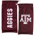 Texas AandM Aggies Officially licensed MLB product - Our officially licensed soft microfiber glasses bag  with the Texas A&M Aggies logo on one side and the team name on the other. The microfiber bag protects your glasses from scratches and can be used as a cleaning cloth. Thank you for shopping with CrazedOutSports.com
