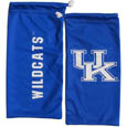 Kentucky Wildcats Microfiber Glasses Bag - Our officially licensed collegiate soft microfiber glasses bag  with the Kentucky Wildcats logo on one side and the team name on the other. The microfiber bag protects your glasses from scratches and can be used as a cleaning cloth. Thank you for shopping with CrazedOutSports.com
