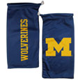 Michigan Wolverines Microfiber Glasses Bag - This officially licensed collegiate soft Michigan Wolverines Microfiber Glasses Bag with the Michigan Wolverines logo on one side and the team name on the other. The Michigan Wolverines Microfiber Glasses Bag protects your glasses from scratches and can be used as a cleaning cloth. Thank you for shopping with CrazedOutSports.com
