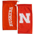 Nebraska Cornhuskers Microfiber Glasses Bag - Our officially licensed collegiate soft microfiber glasses bag  with the Nebraska Cornhuskers logo on one side and the team name on the other. The microfiber bag protects your glasses from scratches and can be used as a cleaning cloth. Thank you for shopping with CrazedOutSports.com