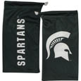 Michigan St. Spartans Microfiber Glasses Bag - This officially licensed soft Michigan St. Spartans Microfiber Glasses Bag with the Michigan St. Spartans logo on one side and the team name on the other. The Michigan St. Spartans Microfiber Glasses Bag protects your glasses from scratches and can be used as a cleaning cloth. Thank you for shopping with CrazedOutSports.com