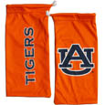 Auburn Tigers Microfiber Glasses Bag - Our officially licensed collegiate soft microfiber glasses bag  with the Auburn Tigers logo on one side and the team name on the other. The microfiber bag protects your glasses from scratches and can be used as a cleaning cloth. Thank you for shopping with CrazedOutSports.com