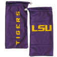 LSU Tigers Microfiber Glasses Bag - Our officially licensed collegiate LSU Tigers soft microfiber glasses bag  with the LSU Tigers logo on one side and the team name on the other. The LSU Tigers microfiber bag protects your glasses from scratches and can be used as a cleaning cloth. Thank you for shopping with CrazedOutSports.com