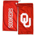 Oklahoma Sooners Microfiber Glasses Bag - Our officially licensed collegiate soft microfiber glasses bag  with the Oklahoma Sooners logo on one side and the team name on the other. The microfiber bag protects your glasses from scratches and can be used as a cleaning cloth. Thank you for shopping with CrazedOutSports.com