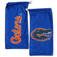 Florida Gators Microfiber Glasses Bag - Our officially licensed collegiate soft microfiber glasses bag  with the Florida Gators logo on one side and the team name on the other. The microfiber bag protects your glasses from scratches and can be used as a cleaning cloth. Thank you for shopping with CrazedOutSports.com