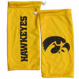 Iowa Hawkeyes Microfiber Glasses Bag - Our officially licensed Iowa Hawkeyes collegiate soft microfiber glasses bag with the Iowa Hawkeyes logo on one side and the team name on the other. The microfiber bag protects your glasses from scratches and can be used as a cleaning cloth. Thank you for shopping with CrazedOutSports.com