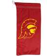 USC Trojans Microfiber Glasses Bag - These officially licensed soft microfiber glasses bag with the USC Trojans logo on one side and the team name on the other. The microfiber bag protects your glasses from scratches and can be used as a cleaning cloth. Thank you for shopping with CrazedOutSports.com