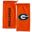 Georgia Bulldogs Microfiber Glasses Bag - Our officially licensed collegiate soft microfiber Georgia Bulldogs glasses bag  with the Georgia Bulldogs logo on one side and the team name on the other. The microfiber bag protects your glasses from scratches and can be used as a cleaning cloth. Thank you for shopping with CrazedOutSports.com