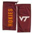 Virginia Tech Hokies Microfiber Glasses Bag - Our officially licensed collegiate soft microfiber glasses bag  with the Virginia Tech Hokies logo on one side and the team name on the other. The microfiber bag protects your glasses from scratches and can be used as a cleaning cloth. Thank you for shopping with CrazedOutSports.com