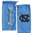 N. Carolina Tar Heels Microfiber Glasses Bag - Our officially licensed collegiate soft microfiber glasses bag  with the N. Carolina Tar Heels logo on one side and the team name on the other. The microfiber bag protects your glasses from scratches and can be used as a cleaning cloth. Thank you for shopping with CrazedOutSports.com