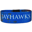 Kansas Jayhawks Stretch Bracelets - Instantly become a team VIP with this Kansas Jayhawks Stretch colorful wrist band! This Kansas Jayhawks Stretch Bracelet is not your average, cheap stretch bands the stretch fabric and dye sublimation allows the crisp graphics and logo designs to really pop. A must have for any Kansas Jayhawks fan!